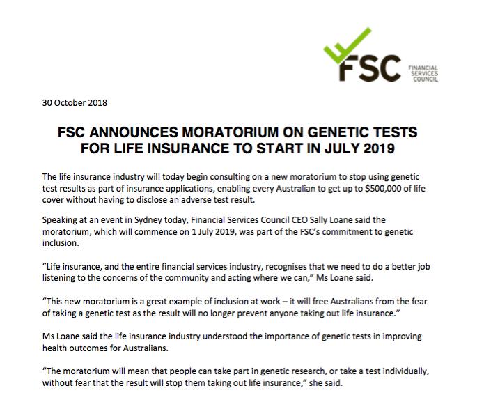 Life Insurance & Genetic Testing