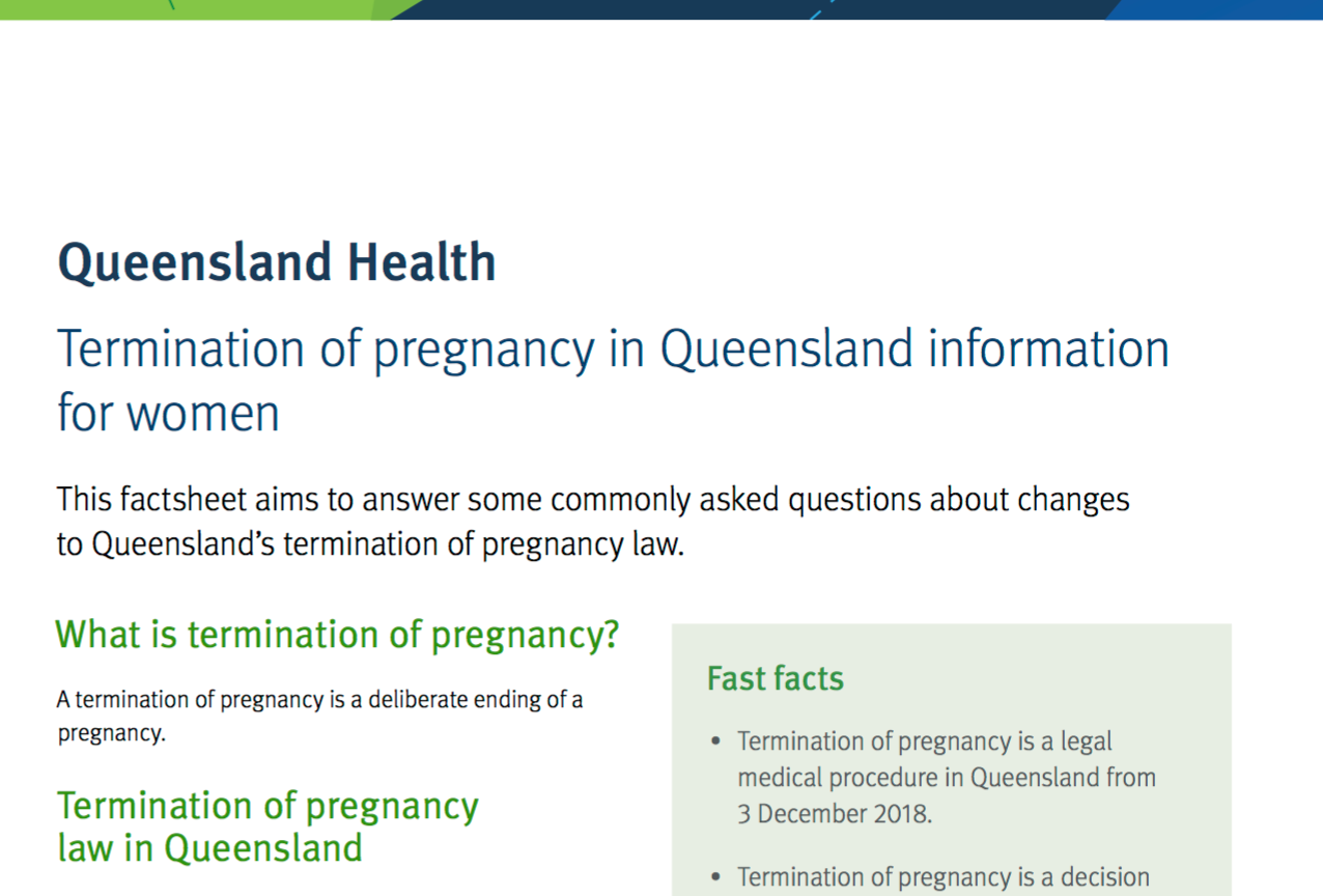 Termination of Pregnancy in Qld